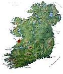 Kaart van Ierland - klik om te vergroten